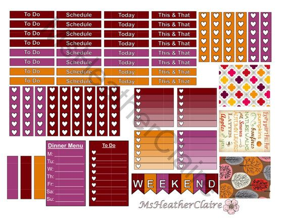 Autumn Colours Weekly Kit