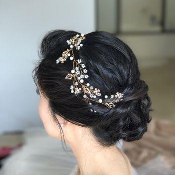 Wedding Hair - Korean Bridal Makeup - Asian Bridal Makeup - Soft updo - Romantic updo - Korean Bride - Asian Makeup Artist - imagibyfiona - Yelp #asianmakeup