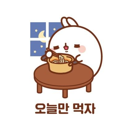Molang and noodles