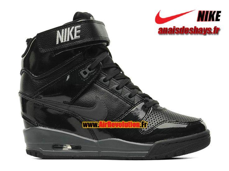 Boutique Officiel Nike Air Revolution Sky Hi GS Noir/Hyper cocktail/Argent métallique/Anthracite 599410-009
