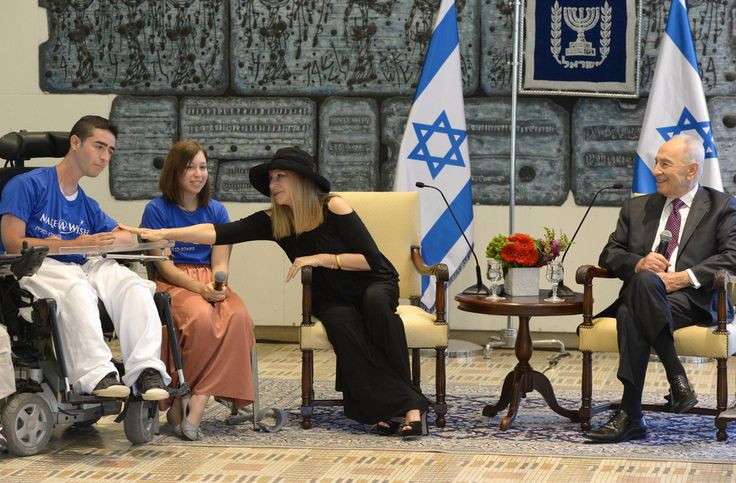 Barbra Streisand Photos: Barbra Streisand Hangs Out with Shimon Peres