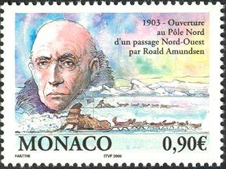 MONACO 2003 Ouverture au Pôle Nord d'un passage nord-ouest par Roald Amundsen
