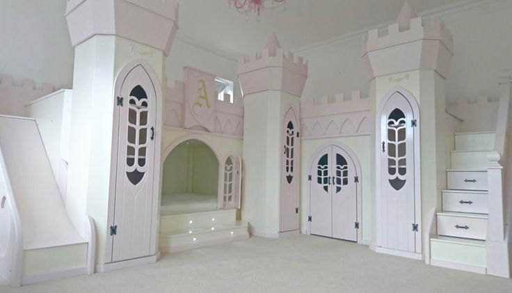 Huge Princess Palace Themed Girls Bedroom design by Dreamcraft Furniture