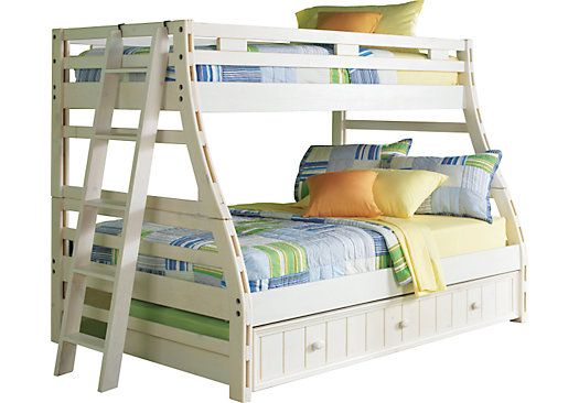 Shop for a creekside white wash twin full bunk bed at for Rooms to go kids twin beds