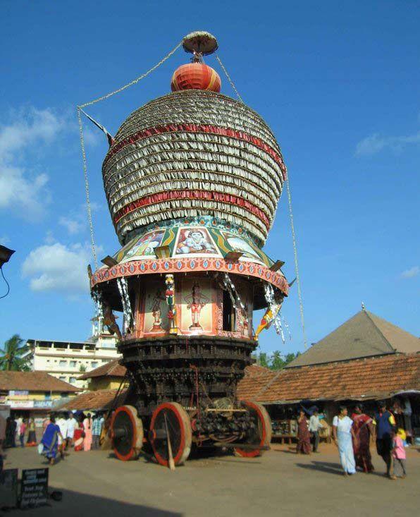 Chariot outside Krishna temple - Udupi, Karnataka