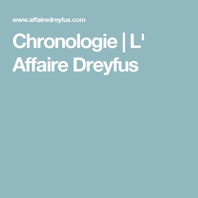 Chronologie   L' Affaire Dreyfus