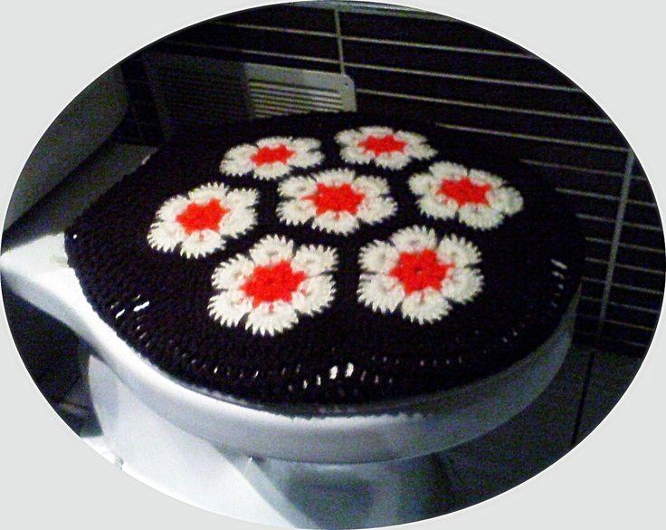 Cubre Tapa de Baño,  tejido a crochet