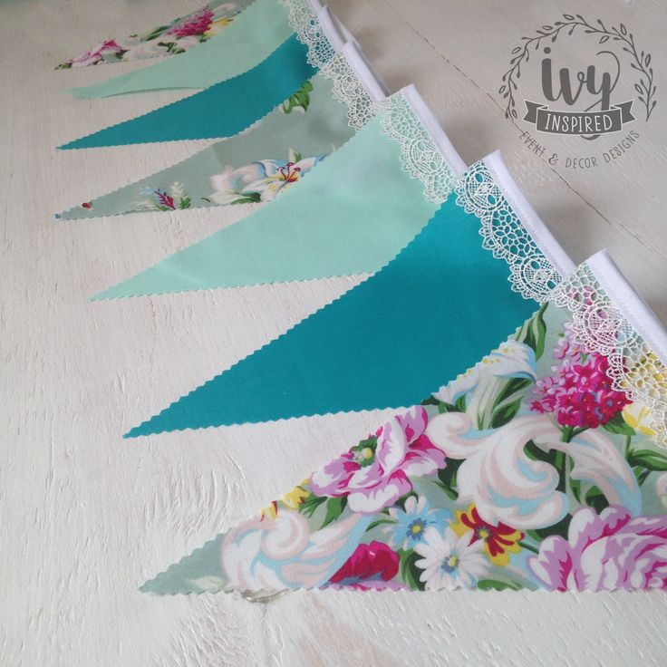 Design your own bunting by choosing any mix of current fabrics.  You Choose it, We Make it!