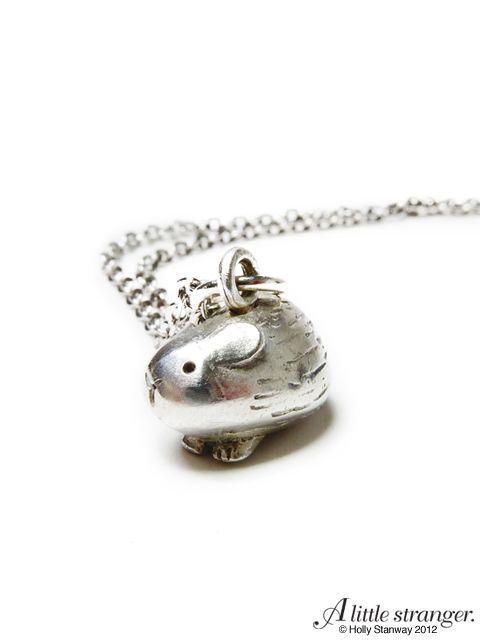 Guinea Pig Necklace. Same company also makes a piggy ring.  <3!