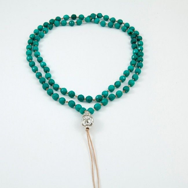 Rosary from Turquoise with a silver buddha 91€