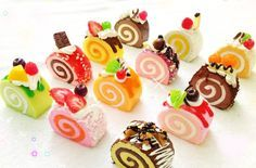 Mini roll cakes