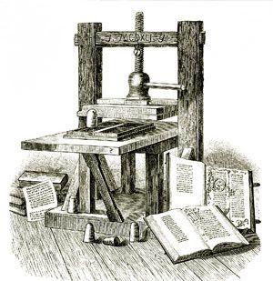Johannes Gutenberg — A sua invenção do tipo mecânico móvel para impressão começou a Revolução da Imprensa e é considerado o evento mais importante do período moderno