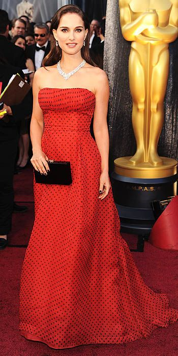Natalie Portman in vintage Dior at the 2012 Academy Awards