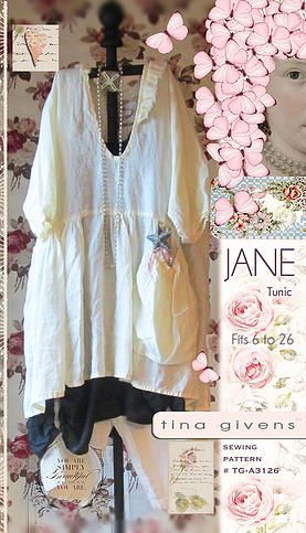 PDF downloadable sewing patterns by tina givens-jane tunic ...reminds me of Free People clothing line