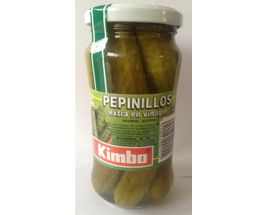 PEPINILLOS Tarro cristal 370 ml. Pepino conservado en vinagre tamaño medio de 6 cm. Procedente de cultivo controlado en todo su proceso.