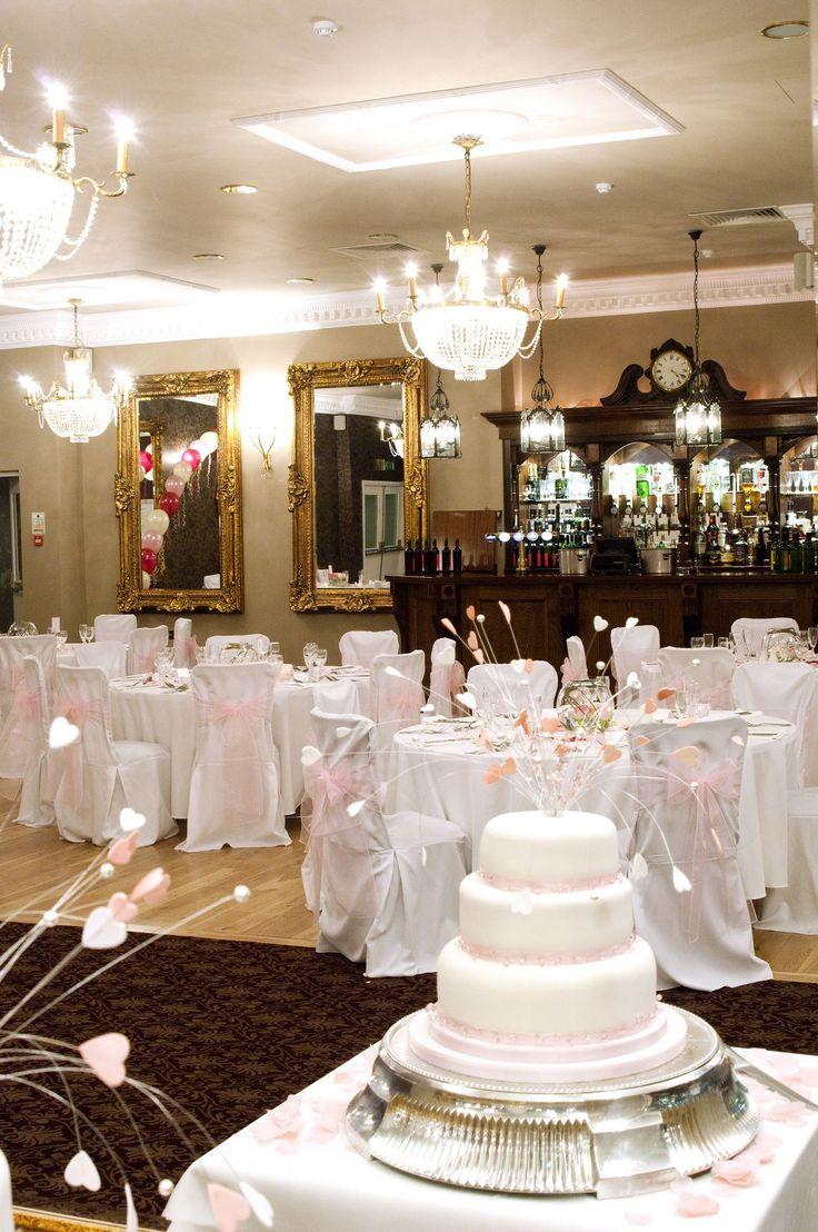Wedding reception set up at Highdown Hotel