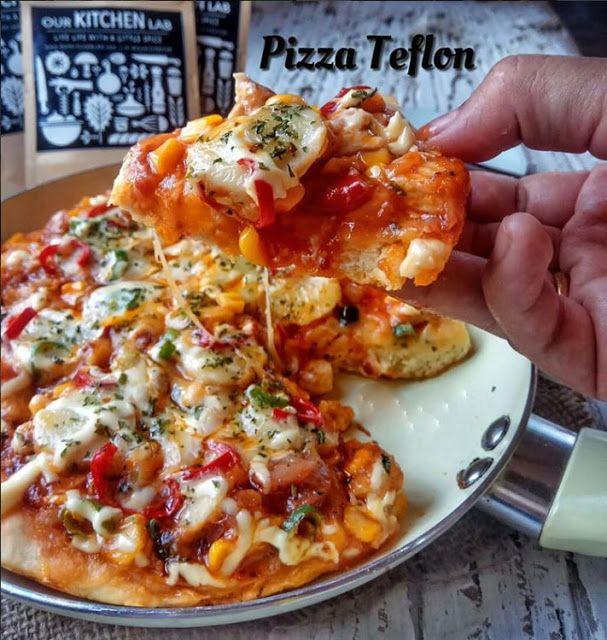 Cara Membuat Pizza Sederhana Menggunakan Alat Masak Teflon Resep Ide Makanan Makanan Penutup