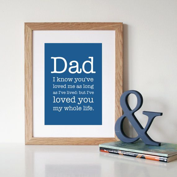 Father's Day Gift - 'DAD' Quote Typography Art Print - Gifts for Dad on Etsy, $29.41