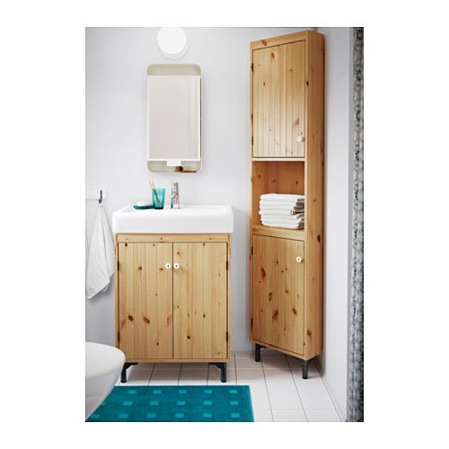 IKEA - SILVERÅN, Corner unit, white, , You can move the shelf and adjust the spacing according to your personal needs.You can mount the door to open from the right or left.Adjustable feet for increased stability and protection against a wet floor.Perfect in a small bathroom.