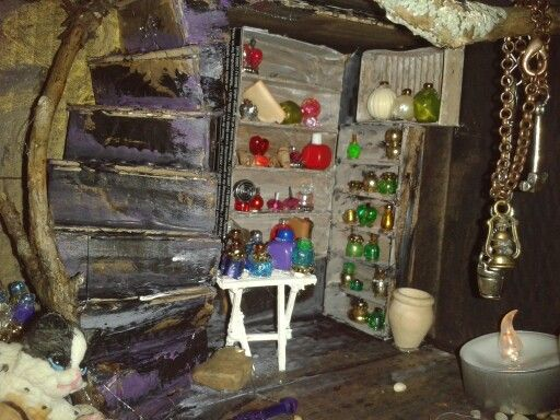 Me trying to make a witch dollhouse. With some help from my two ten year old girls.