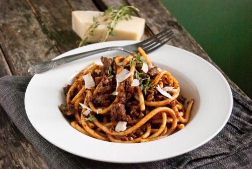Bucatini with Mushroom Ragu | Mushrooms | Pinterest