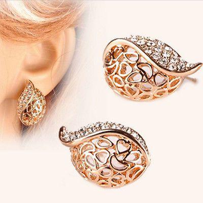 Boucles d'oreilles Femme Cristal Couleur Or