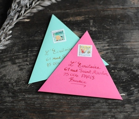 Snail mail envelopes.