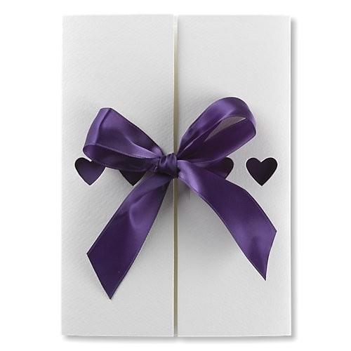 Ribbons Purple Wedding Invitations BMV313PU