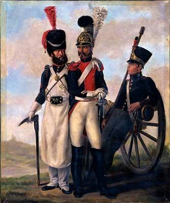 Sapper, Carabinier and a Gunner