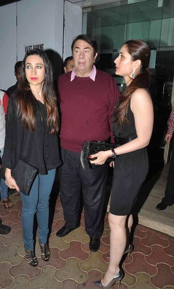 Live in Style - Karisma Kapoor & Kareena Kapoor Khan photographed at Randhir Kapoor's birthday dinner