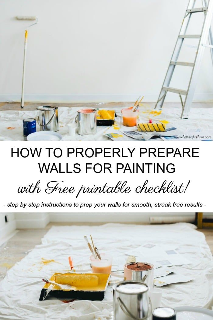 How To Prepare A Room For Painting Diy Wall