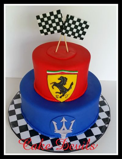 Cake Decorating Checkered Flag : 17 Best ideas about Ferrari Cake on Pinterest Car cakes ...