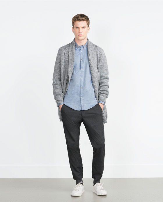 ツートンオックスフォードシャツ - すべてを見る - シャツ - メンズ | ZARA 日本