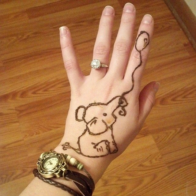 Henna Elephant Tattoo: Simple Henna Designs For Summer