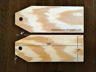 Dimensions for door tags