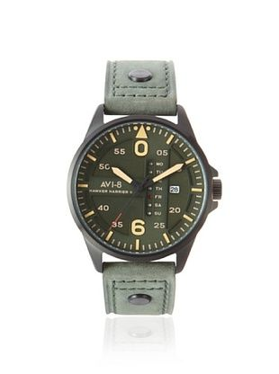 63% OFF AVI-8 Men's 4003-04 Hawker Harrier II Green Stainless Steel Watch
