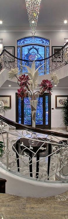 Stunning entrance Grand Mansion, luxury lifestyle, dream home. ~DK