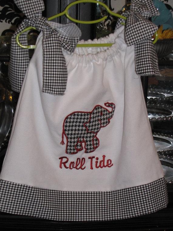 Roll Tide: Bama Baby, Alabama Elephant, Baby Alabama Clothing, Baby Ideas, Baby Girls Alabama, Alabama Football, Pillows Cases Dresses, Rolls Tide, Alabama Girls Dresses