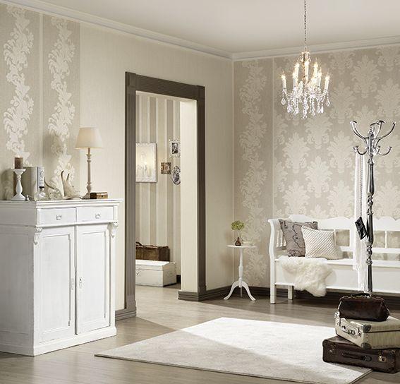 AS Création Tapete 953691 Tapete, Beige, Weiß, Natur, Floral - moderne tapeten fr schlafzimmer
