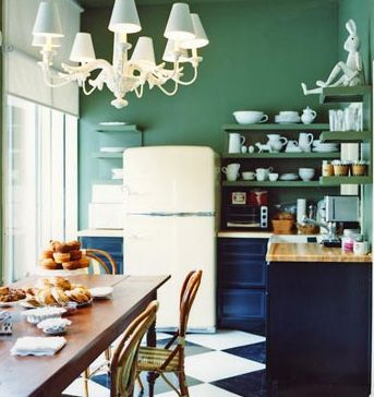 Cool colours for kitchens