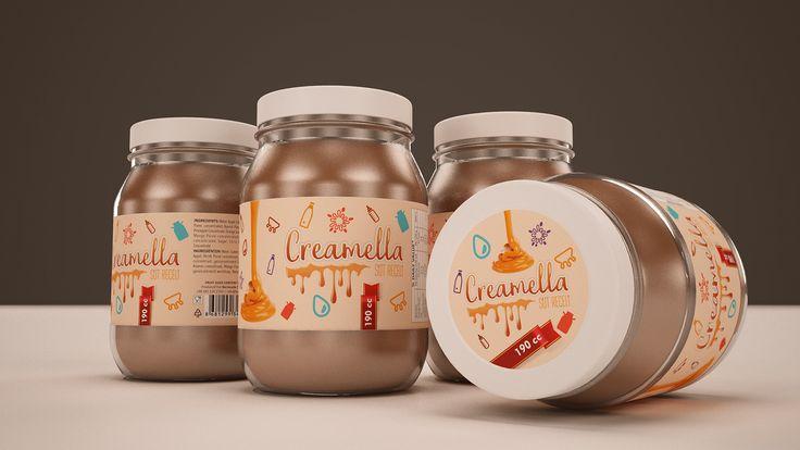 Creamella Süt Reçeli Ambalaj Tasarımı Creamella, logo tasarımını ve isim babalığını da yapma şansını yakaladığım bir marka. En son tadına bakma bahtiyarlığına da eriştim :).