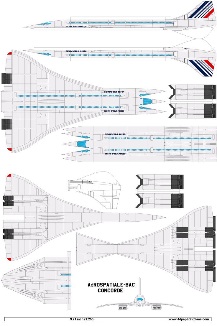 Concorde Air France Paper Airplanes Airplane Crafts