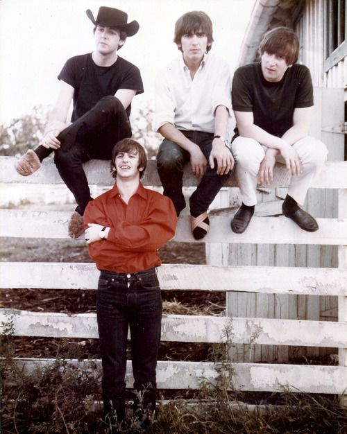 Paul McCartney, George Harrison, John Lennon, and Ringo Starr in 1964 they make country look good