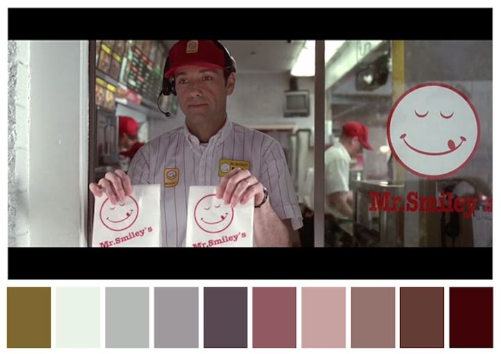 Twitter accountCinema Palettes takes screenshots from classic films and translates them to ten-part color palettes. Though based on a momentary still, each spectrum of shades seems to encapsulate its movie's overall mood: the somber, otherworldly blues of Harry Potter and the Deathly Hallows: Part 2, the dreamlike pinks and purples of The Grand Budapest Hotel, …