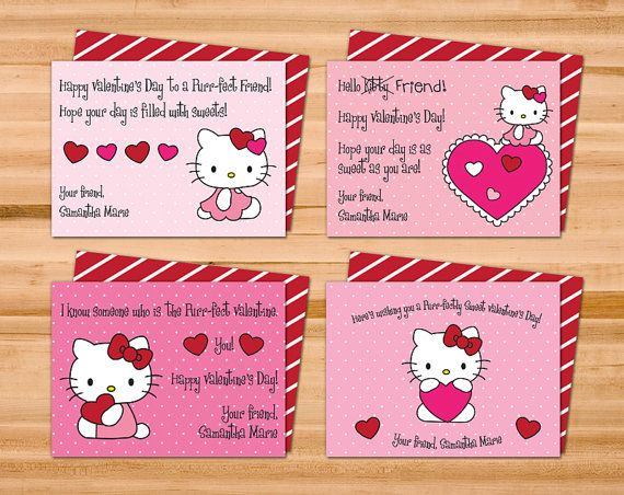 Printable Hello Kitty Valentine Cards Four 4 by ...