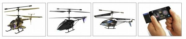 Swann's 3 new RC helicopters: 2 with on-board wireless video cameras and another controlled by iPhone™, iPod™, iPad™.     http://maxborgesagency.com/press/swann-debuts-new-fleet-of-video-camera-helicopters-and-idevice-controlled-helicopters/