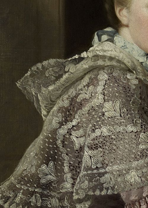 The Artist's Wife: Margaret Lindsay of Evelick by Allan Ramsay, 1758 (detail) #art #detail