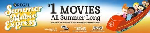 Regal Cinemas Summer $1 Kids Movies  {2017 schedule}