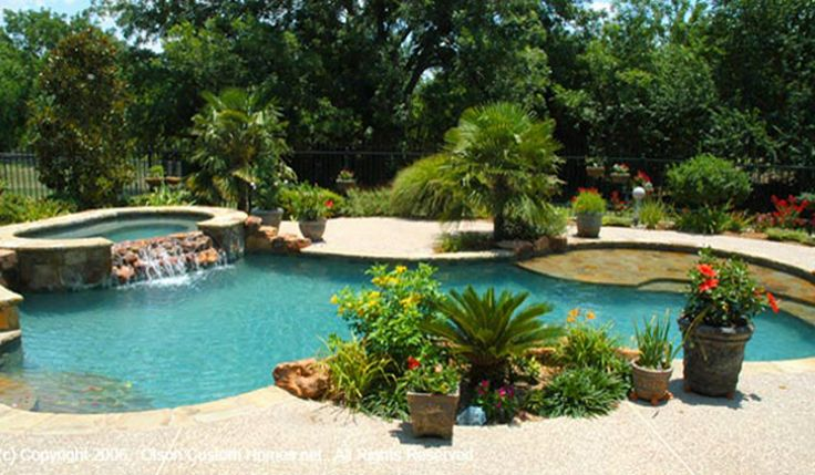 Tropical Landscaping Around Pool For The Backyard