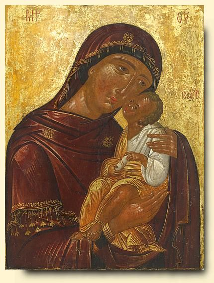 Virgin Glykophilousa - exhibited at the Temple Gallery, specialists in Russian icons